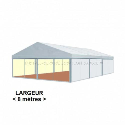 Tente CRYSTAL 8 X travées de 5 m
