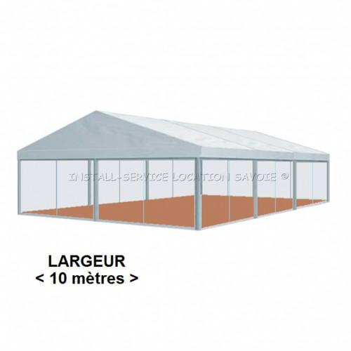 Tente CRYSTAL 10 X travée de 5 m