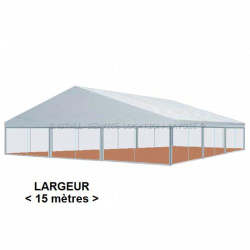 Tente CRYSTAL 15 X travées de 5 m