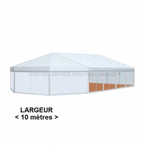 Tente CRYSTAL POLYGONE 10 X travée de 5 m