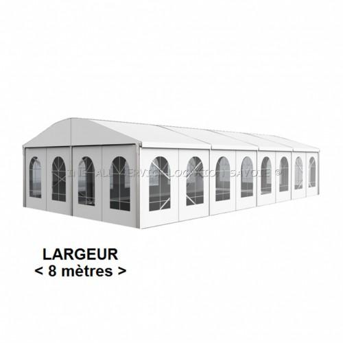 Tente toit cintré 8 X travée de 5 m