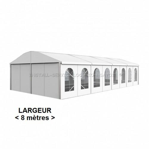 Tente de réception toit cintré 8 X travées de 5 m
