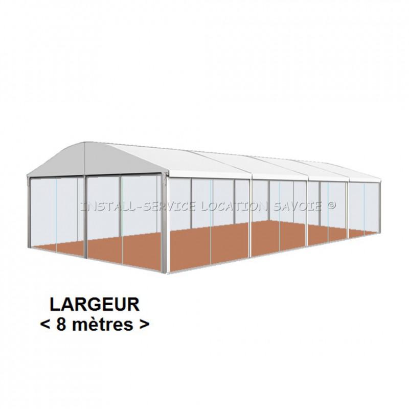 Tente CRYSTAL toit cintré 8 X travée de 5 m